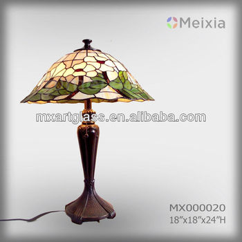 MX000020 Tiffany style stained glass desk lamp shade for table decoration piece