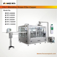 3 in 1 Bottle Water Rinser Filler Capper Machine