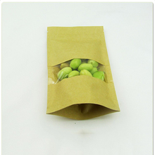 Wholesale zipper custom printing stand up recyclable zip lock kraft paper bag