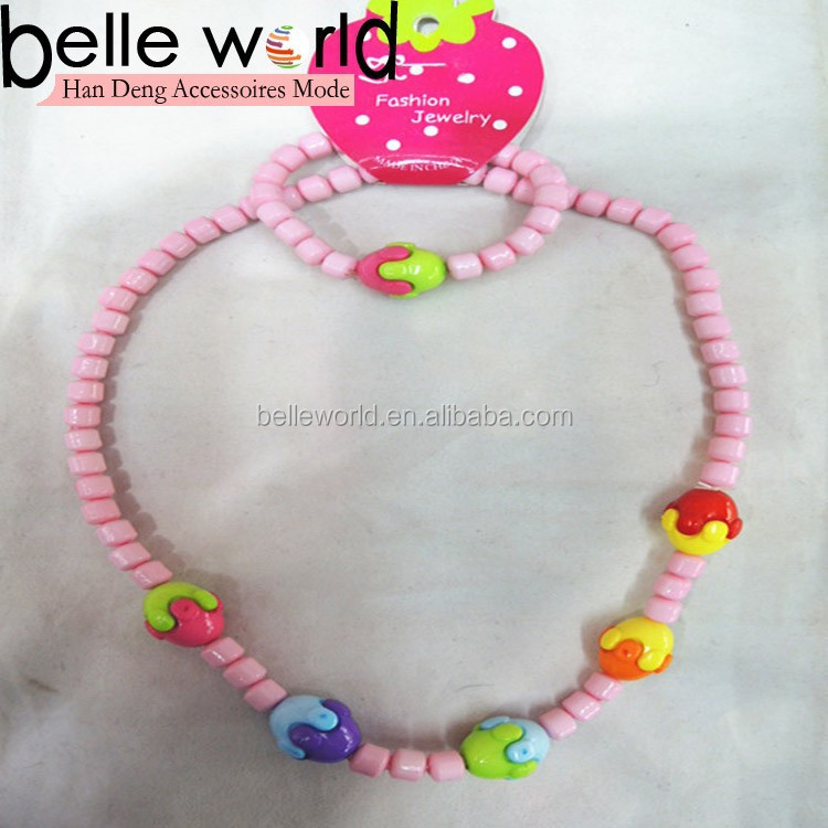 plastic necklace for kids jewelry