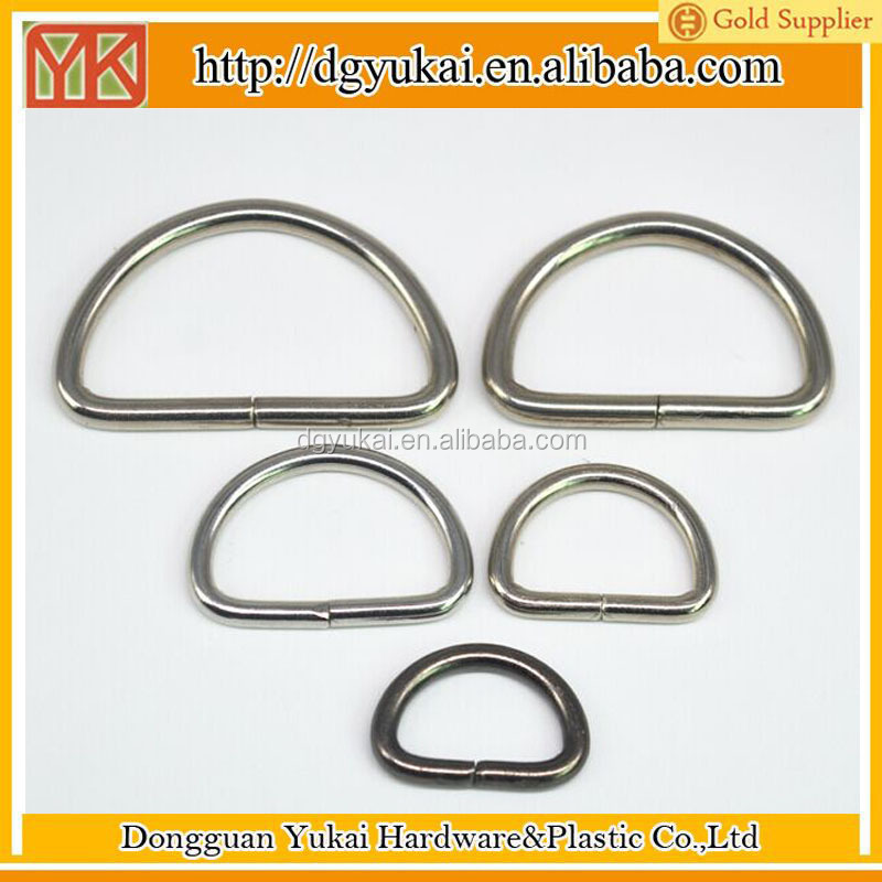 Yukai Metal D Ring Hooks D Shaped Buckles Heavy Welded D-Rings wholesale