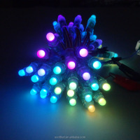 Christmas led string lights WS2811 WS2801 UCS1903 intelligent RGB led pixel light IP68 rated 12mm round shape