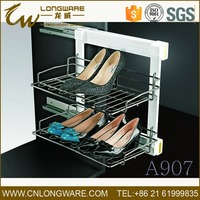 wardrobe closet accessory soft close pull out shoe rack