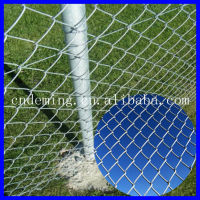DM High quality galvanized and pvc coated chain link fence(proffessional factory best price) )