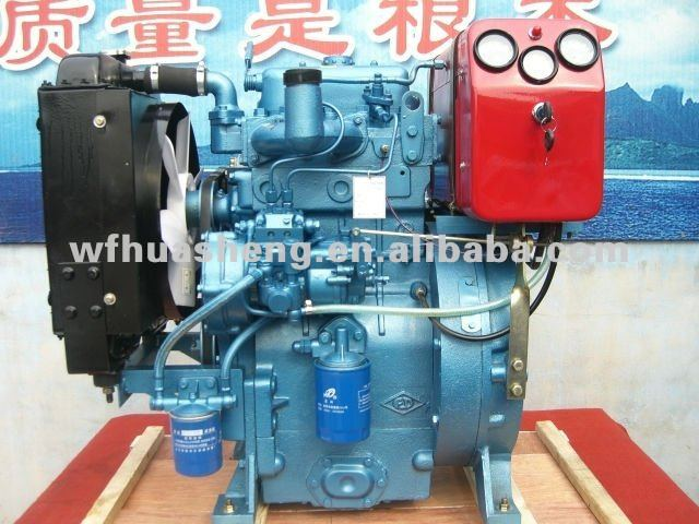 2-cylinder water cooled small diesel engine,15kw 20ph weifang diesel engine