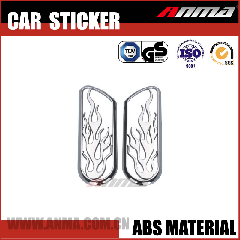 new design 3D ABS colorful vinyl full car body/window/sunroof warp sticker AM325RC937