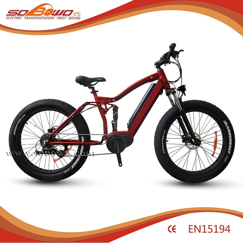 2016 S45 long range battery adult electric bike mountain type full suspension fat tire e cycle electric bike