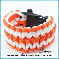 rescue rope safety paracord braided survival bracelet
