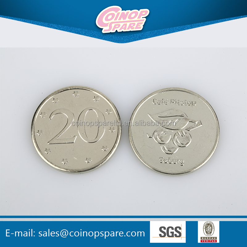 2017 China best sale low price advertising trolley coin token