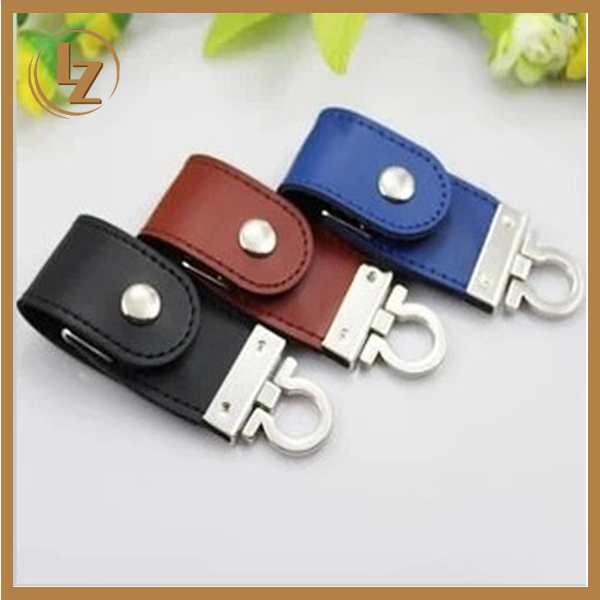 2017 High Quality Flip Leather U Disk/Key Chain Flip Leather USB Flash Drive
