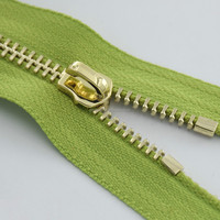 Y teeth gold metal zipper for clothing