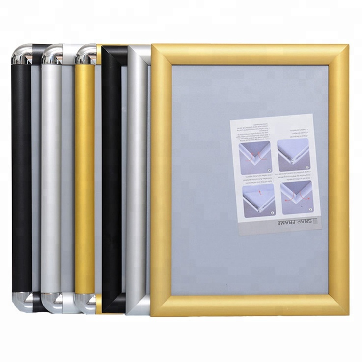 25mm gold front snap aluminum photo picture <strong>frame</strong> for advertising