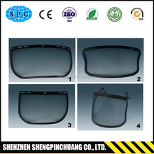 2017 Transparent PVC or PC clear face shield visor