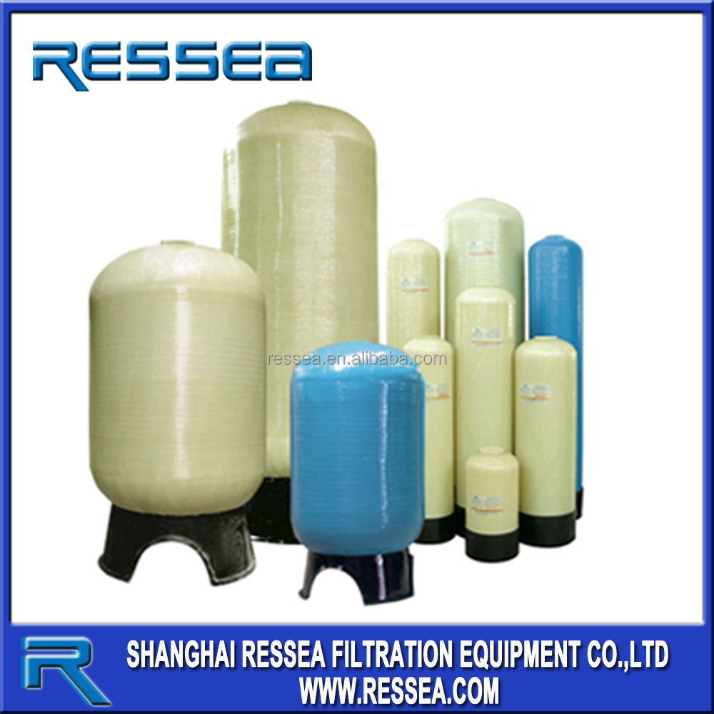 FRP tank 1252, 1354, 1665,3672 with valve in water treatment