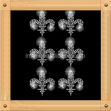 iron on Fleur de lis rhinestone transfer for clothes