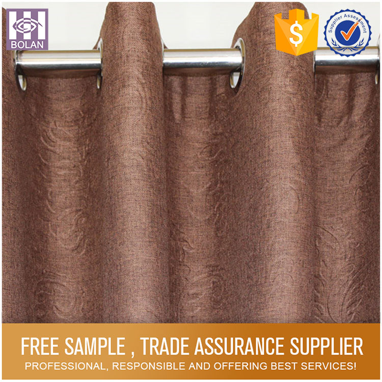 Simple Design Pure Color silk curtains india