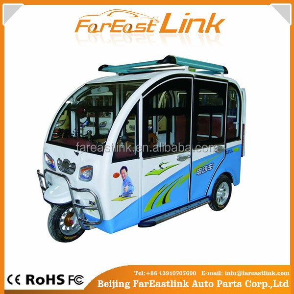 electric closed cabin passenger tricycle TCC for sale