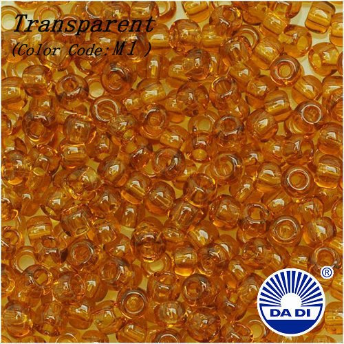 DA DI Glass Seed Beads 8/0 M1 'Transparent Topaz'