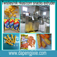 twisties nik naks /corn curls /cheetos/fried snack food extruder making machine from Jinan Eagle