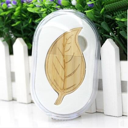 Leaf Shape Wooden USB Flash Drive For Wedding Gift Or Personal Use