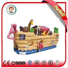 Pirate ship indoor inflatable playground equipment used jumping castles for sale