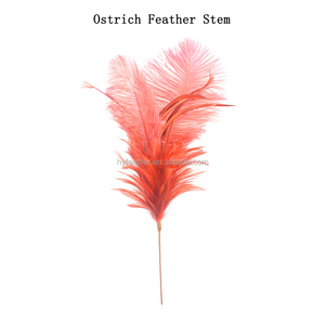 Feather Flower Stem/Feather Floral Pick For Even Party Decoration
