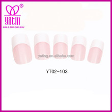 High quality natural french nail tips,plain artificial nails,acrylic nail art tips