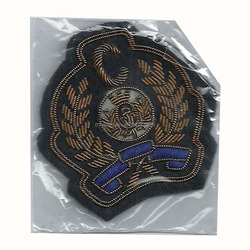 bahama defence force officers cap hand embroidery badge pattern belgium belgian air force pilots cap patch bullion wire