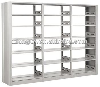 modern design 6 layers double sided metal book shelf/bookcase school library furniture whole steel bookshelf