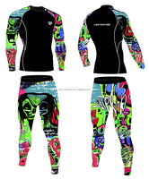 mens sublimation tattoo sleeve compression training running top