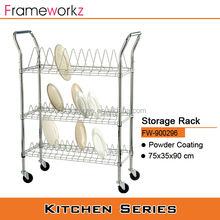 Adjustable Kitchen steel plate holder with wheels