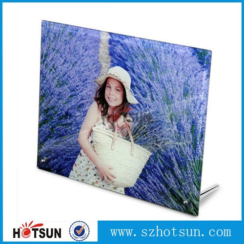 High quality transparent acrylic photoframe for family