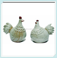 Ceramic Chicken Rooster Figures Country Home Decor