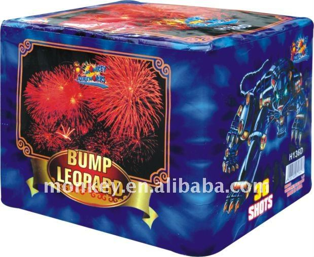 36 shots 500g bump leopard monkey cake fireworks for sale