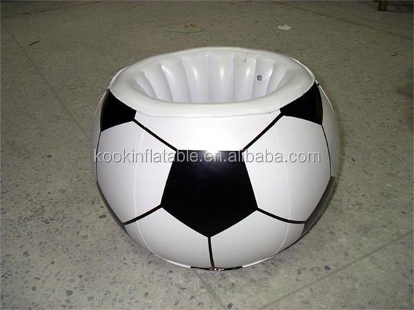 Football Soccer Shaped Inflatable Ice Cooler With Ball Shape