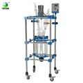 100L PTFE double layer jacketed glass reactor for biopharmaceutica TOPT-100L