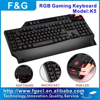 programmable RGB LED Gaming keyboard with software and NKRO function