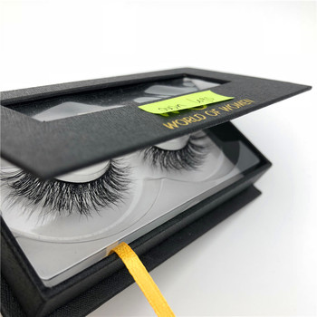 Beauty Super Natural Long Fake Eyelash 3D Real Mink Fur customer box
