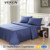 Veken products 800tc 80sx100s plain dyed double bed sheet sets