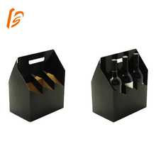 cardboard 3 bottle packaging box beer cooler box with handles