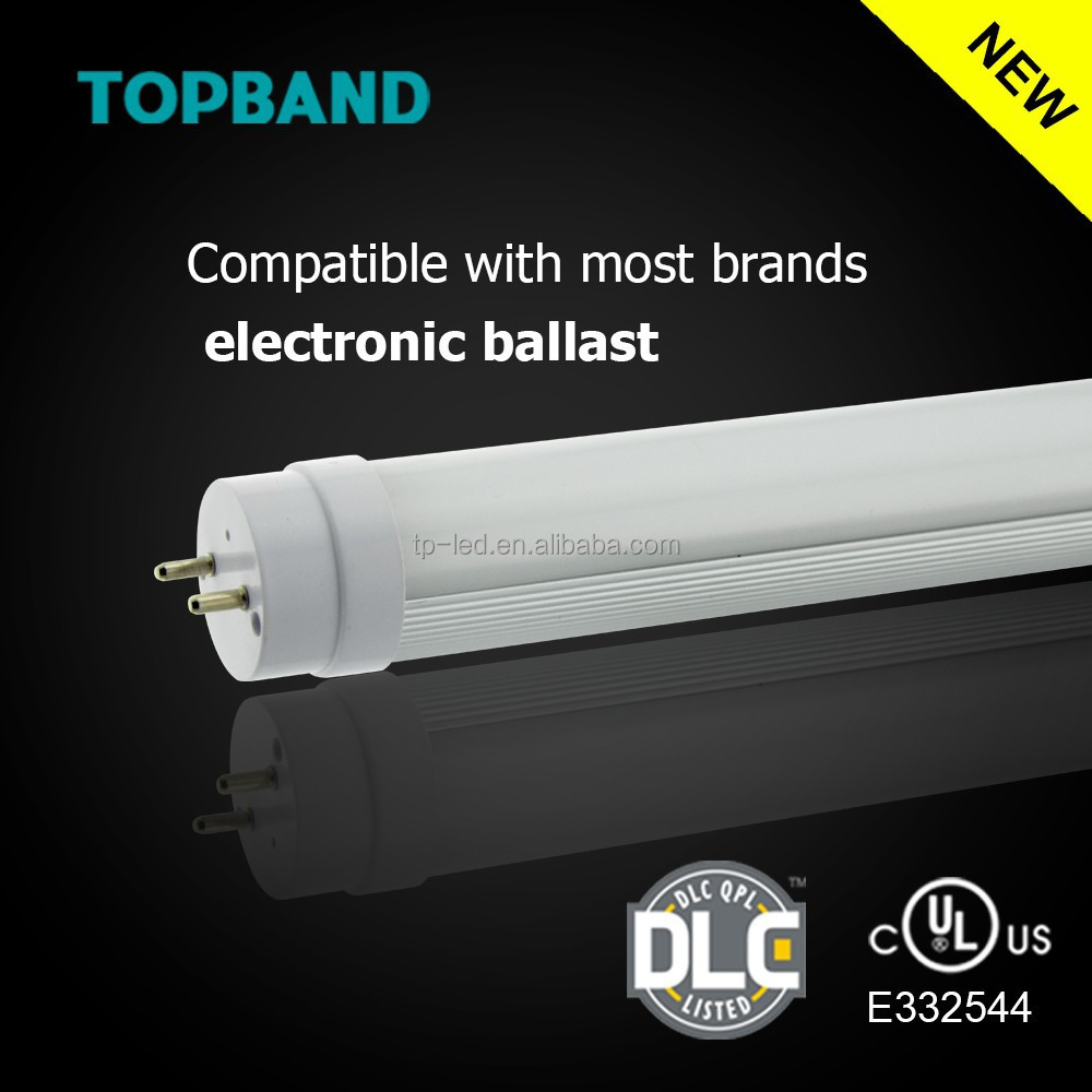 Play and plug UL DLC Listed Ballast Compatible T8 LED Tube, Driver Detachable T8 LED Tube 4ft 14W 18W