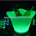 Beautiful environmental reghargeable PE palstic LED ice bucket