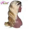 Wholesale hot sales brazilian virgin yaki human hair womens toupee #1b/613 lace wig
