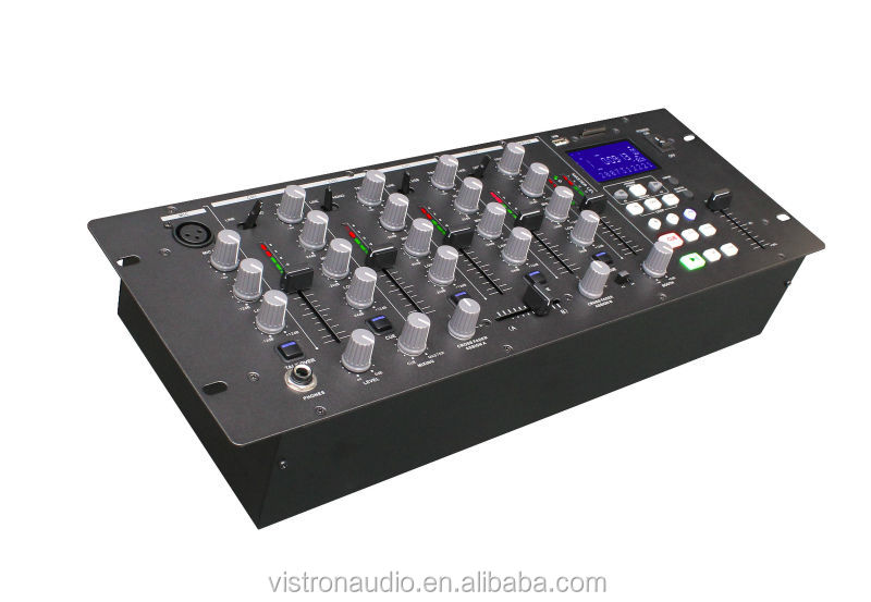 MIX-5 USD hot sell 4-channel usb mp3 player dj mixer with audio mixer studio