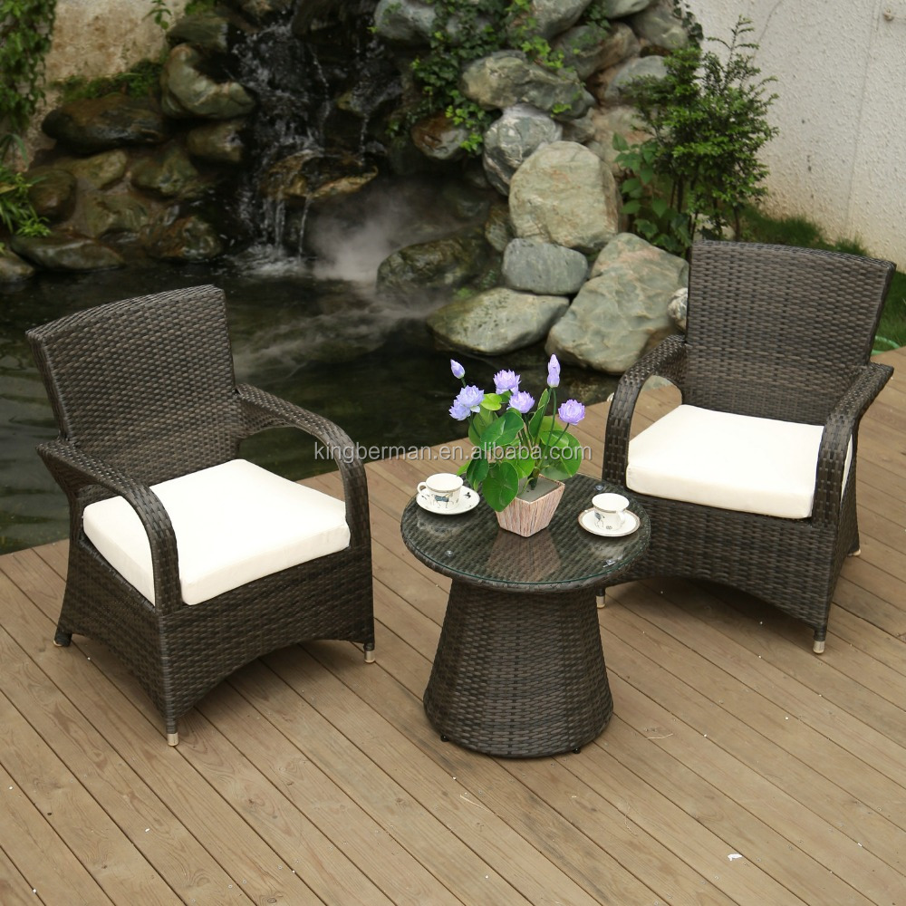 Poly Rattan Garden Furniture Cane Dining Table Chairs Set Coffee Shop Tables and Chairs