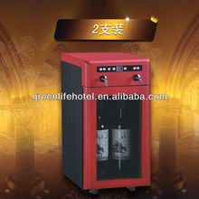 2 Bottle Mini Fridge Can Beverage Vending Machine