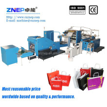 Automatic Square Bottom Paper Bag Making Machine with twisted handle