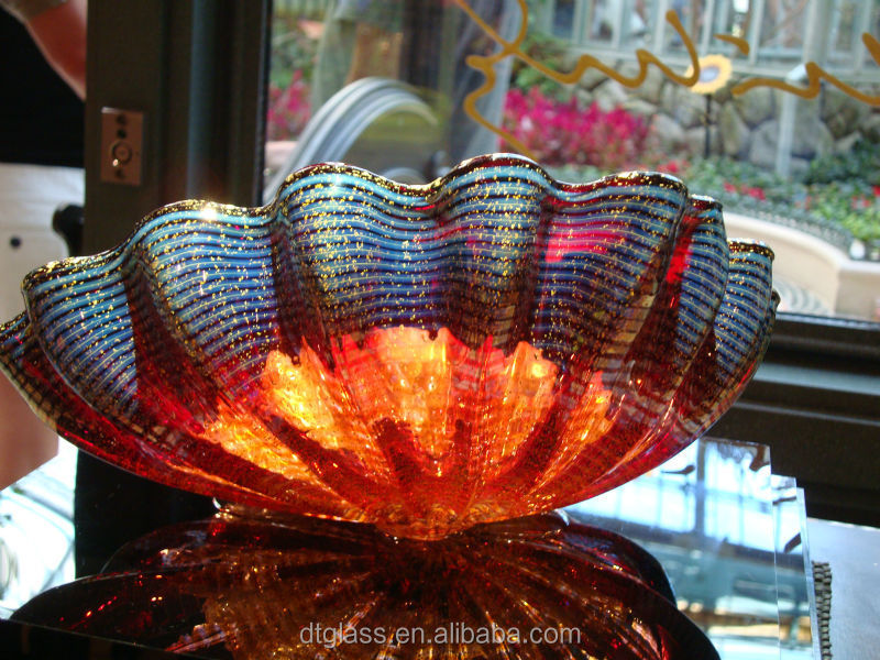 Murano glass mother of pearl bowl <strong>art</strong>