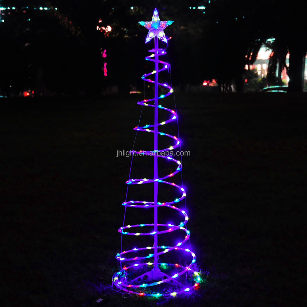 6' Color Changing LED Spiral Tree Lights Outdoor/Indoor Holiday Christmas Decor