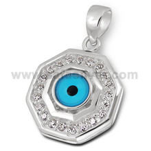 2015 Fashion New Arrival Evil Eye Pendant 925 Sterling Silver Wholesale Price Unisex Charm Jewelry
